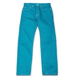 Levi's Men's 501 Original Fit Teal Jeans 40x32